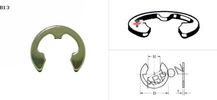 แหวนตัวอี E-RING (ชุบนิเกิล)