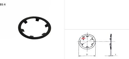 แหวนกดล๊อค CSTW ชุบดำ