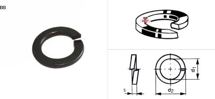แหวนสปริงดำ, ชุบขาว เบอร์ 1